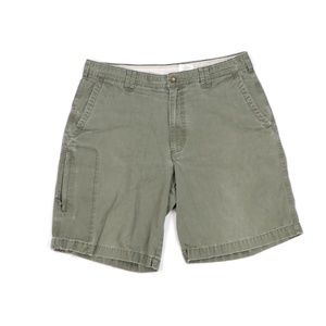Vintage 90s Columbia Spell Out Cotton Shorts Green